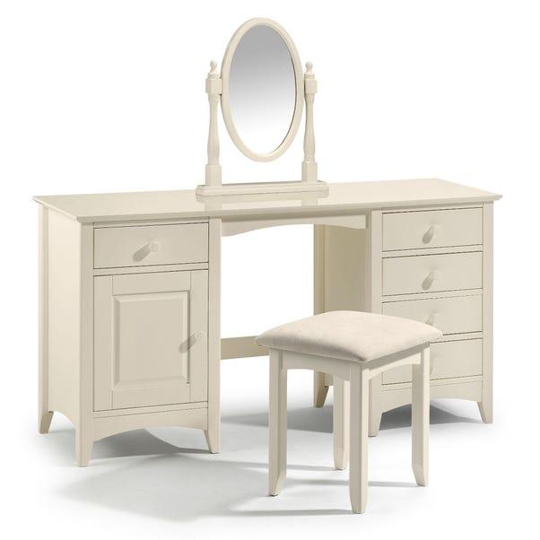 Cameo Stone White Dressing Table White
