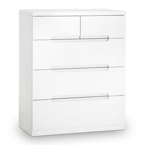 Manhattan White 5 Drawer Chest