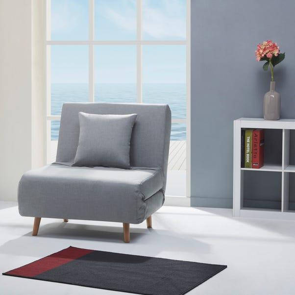 Macy Fabric Light Grey Chair Bed
