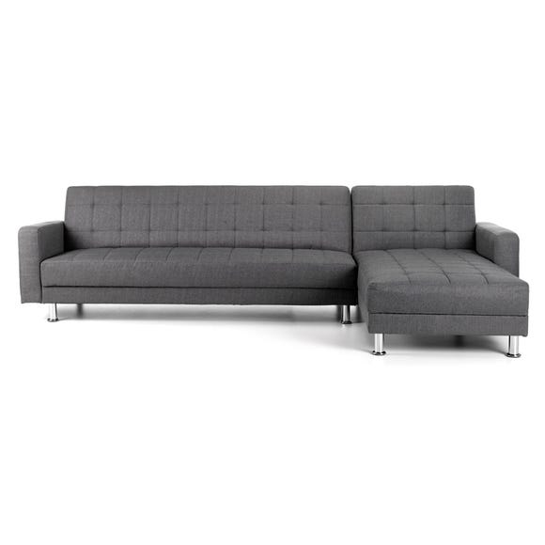 Spencer Chaise Sofa Bed Dark Grey