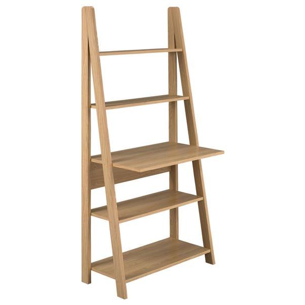 Tiva Oak Ladder Desk