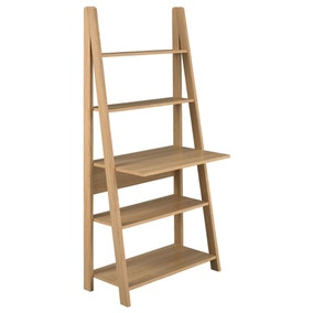 Tiva Oak Ladder Desk