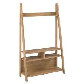 Tiva Oak Ladder TV Stand