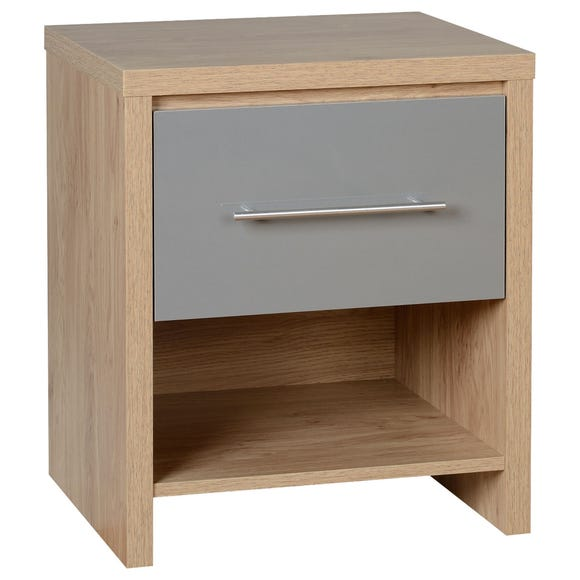 Seville Grey Bedside Table