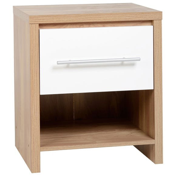 Seville White Bedside Table