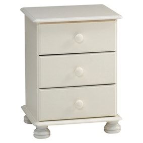 Colburn Off White Bedside Table
