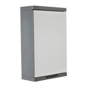 Siena Grey Mirror Cabinet