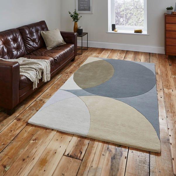 Grey Geometric Haines Rug  undefined