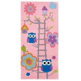 Pink Hong Kong Owl Rug
