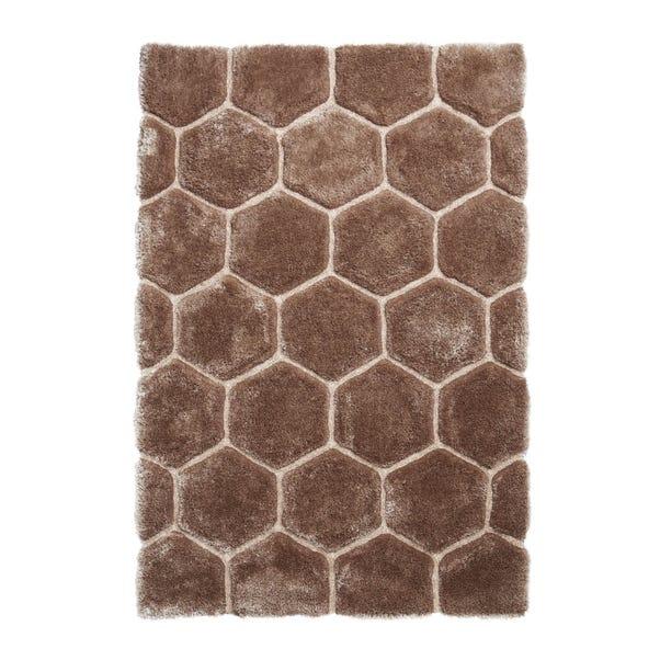 Noble House Honeycomb Rug Honeycomb Beige undefined