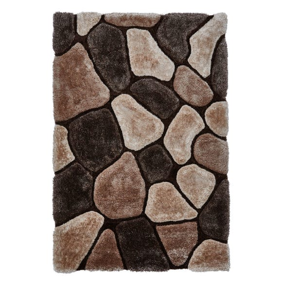 Noble House Pebbles Rug Brown undefined