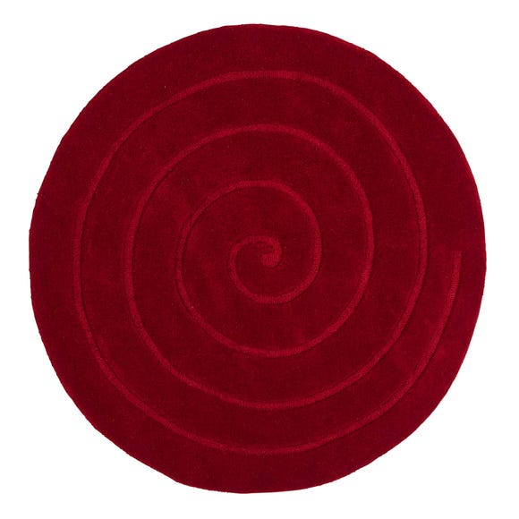 Spiral Circle Rug Red undefined