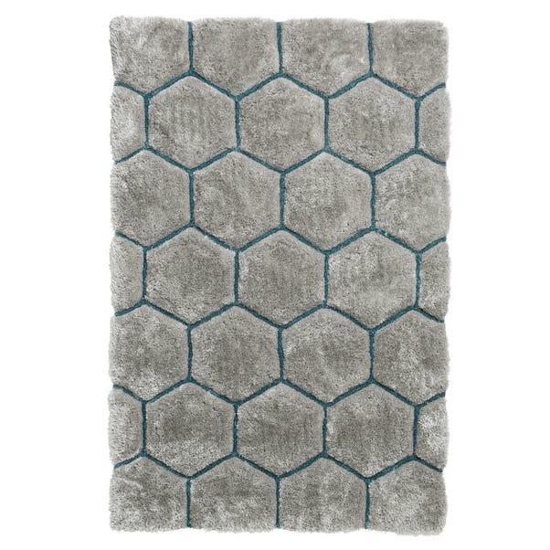 Noble House Honeycomb Rug Honeycomb Grey Blue undefined