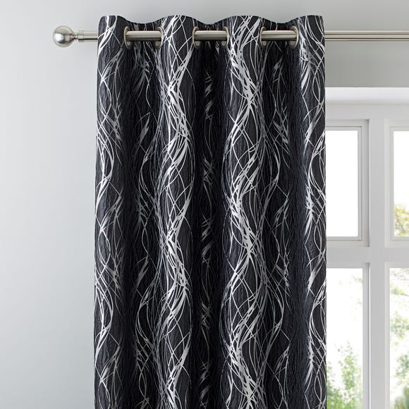 Victoria Charcoal Eyelet Curtains  undefined