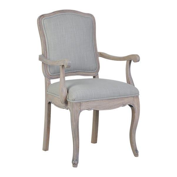 Amelie Carver Chair Grey Brown