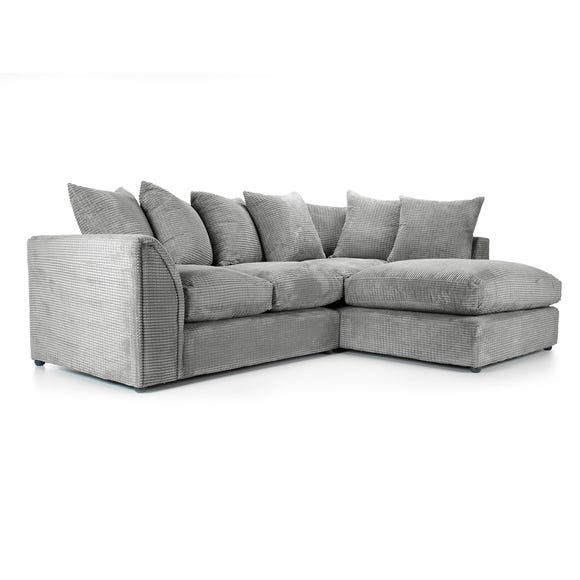Denver Grey Right Hand Corner Sofa Grey