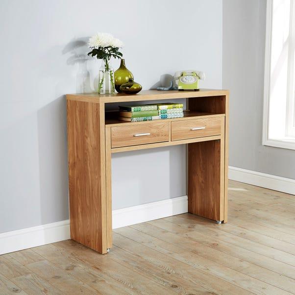 Regis Oak Hideaway Console Desk
