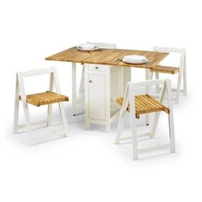 Savoy White 4 Seater Dining Set