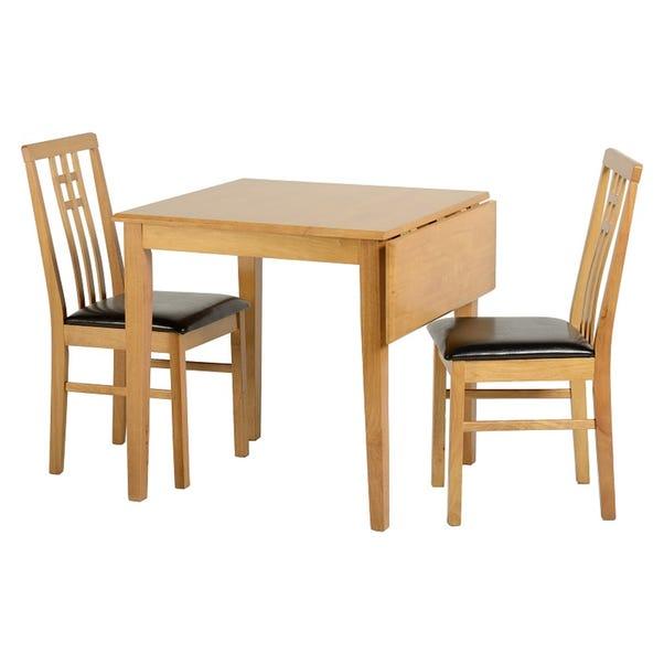Vienna Flip Top Dining Table Set Natural
