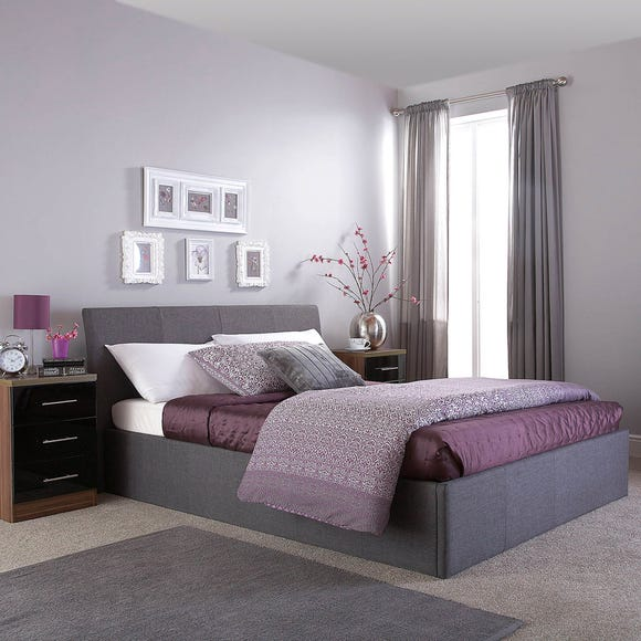 Ascot Grey Upholstered Ottoman Bedstead Grey undefined