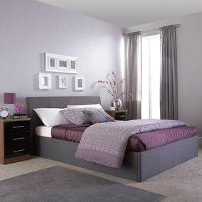 Ascot Grey Upholstered Ottoman Bedstead