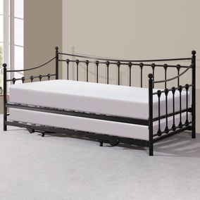 Memphis Black Day Bed with Trundle