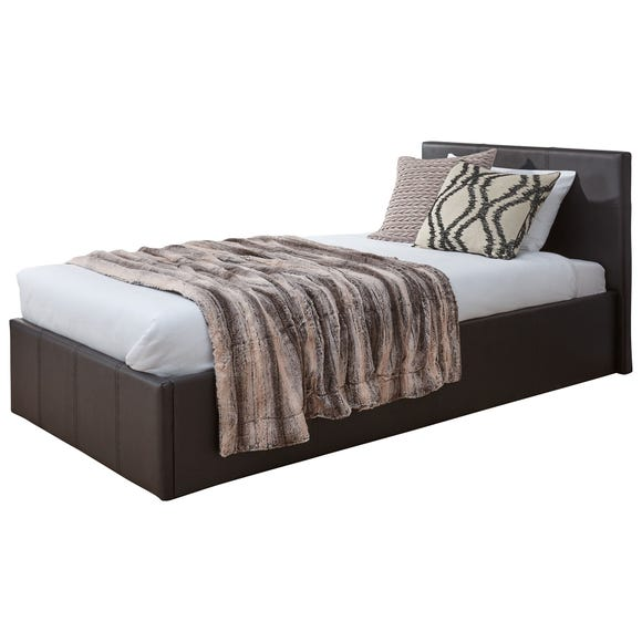 Toronto Single Faux Leather Ottoman Bedstead Brown undefined