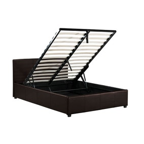 Toronto Brown Faux Leather Ottoman Bedstead