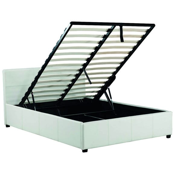 Toronto White Faux Leather Ottoman Bed Frame  undefined