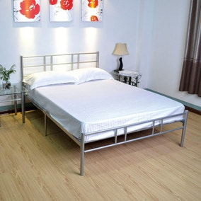 Morgan Silver Metal Bed Frame