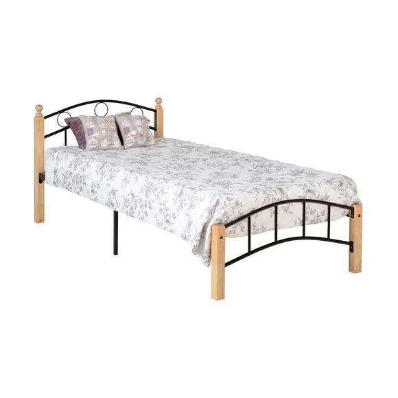 Luton Black and Natural Single Bedstead Natural undefined