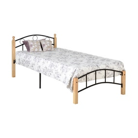Luton Black and Natural Single Bedstead