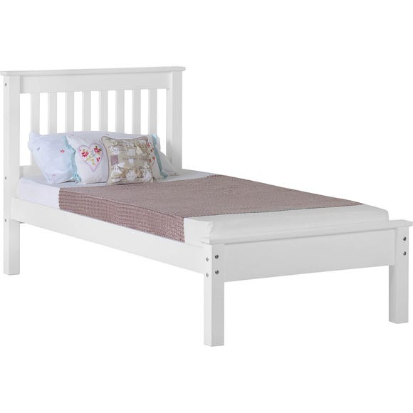 Monaco White Low Foot End Bedstead  undefined