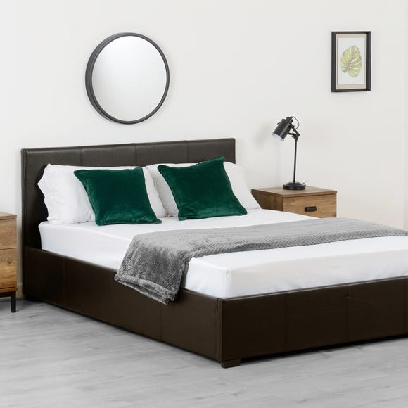 Waverley Brown Faux Leather Storage Bedstead  undefined