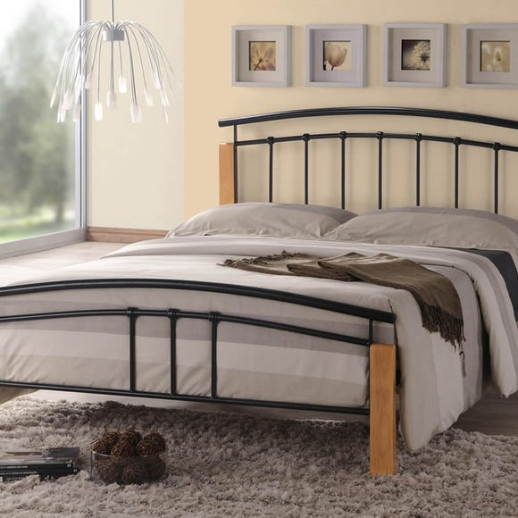 Tetras Black and Beech Bedstead  undefined