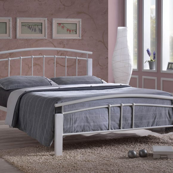 Tetras Silver and White Bedstead  undefined