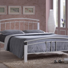 Tetras Silver and White Bedstead