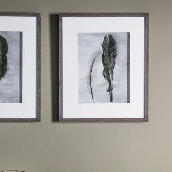 Feather II Framed Print Natural