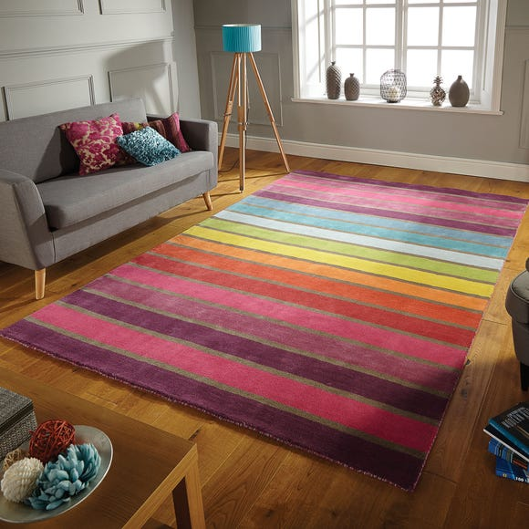 Illusion Candy Rug MultiColoured undefined
