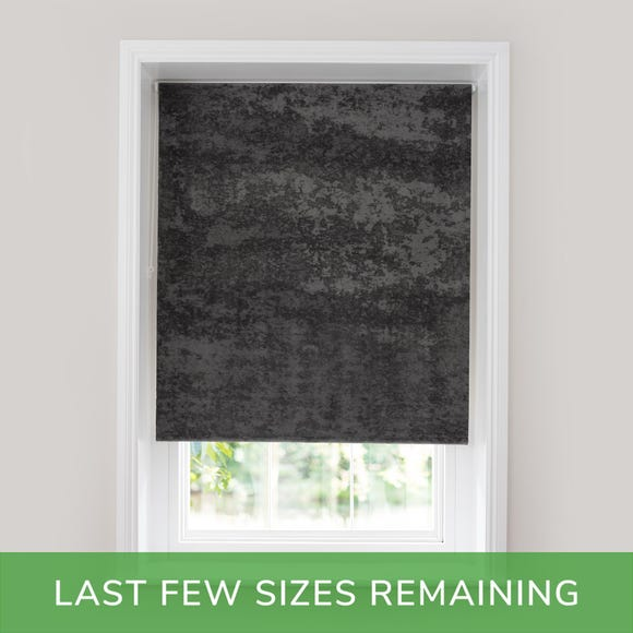 Crushed Velour Charcoal 2ft Thermal Roller Blind Charcoal undefined