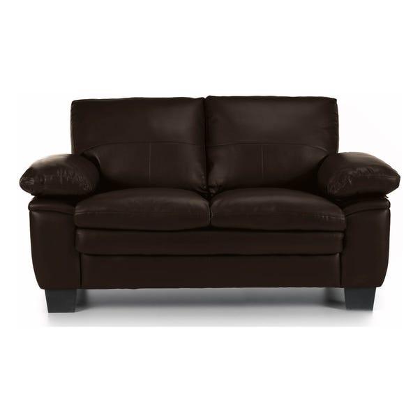 Texas 2 Seater Bonded Leather Sofa Brown Texas