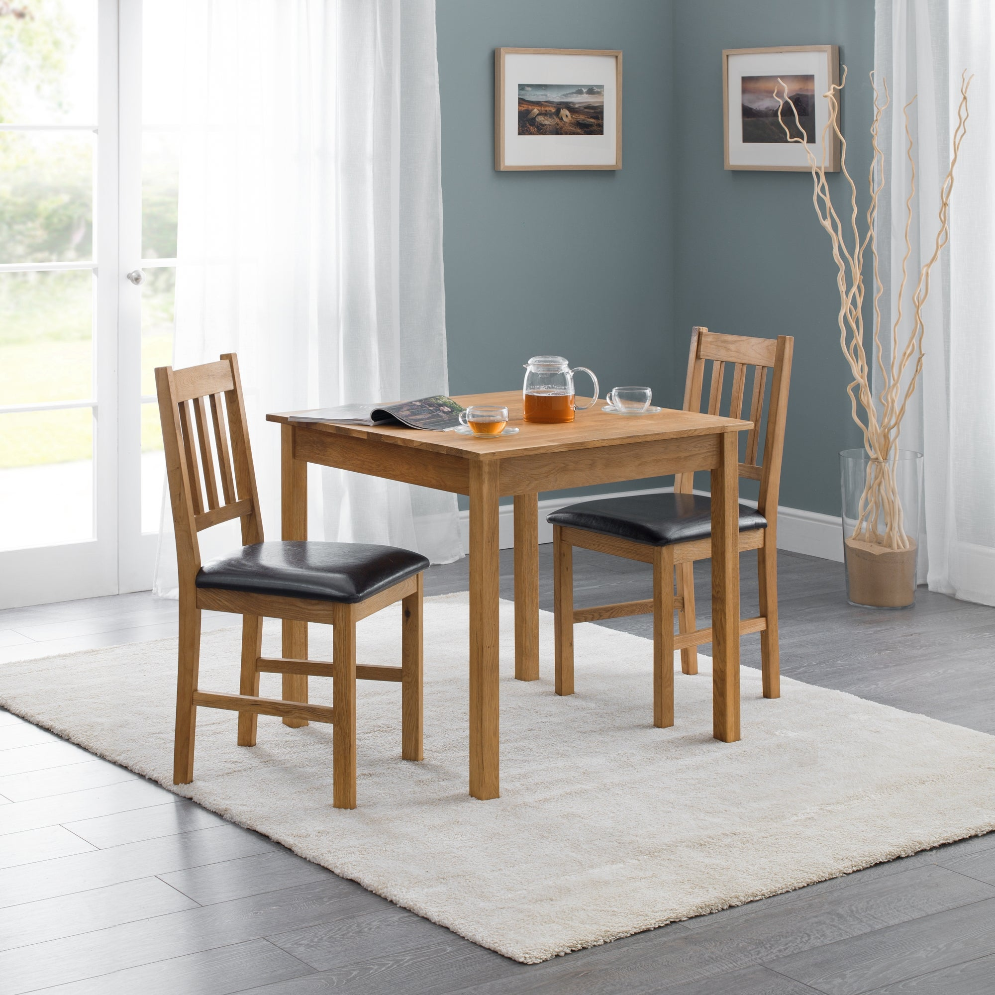 Coxmoor Oak Square Dining Table Natural