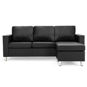 Zara Reversible Faux Leather Corner Chaise