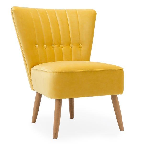 Isla Velvet Cocktail Chair - Citrus Citrus Isla