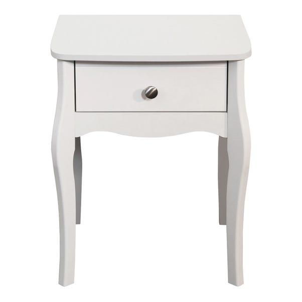 Baroque White Nightstand White