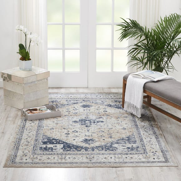Beige and Blue Malta 2 Rug  undefined