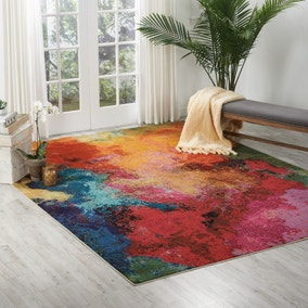 Multi Coloured Celestial Palette Rug