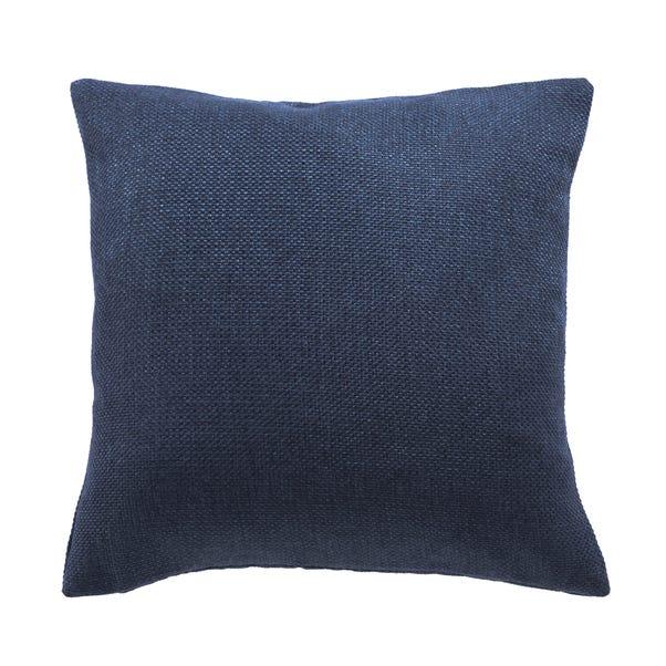 Barkweave Square Cushion Navy undefined