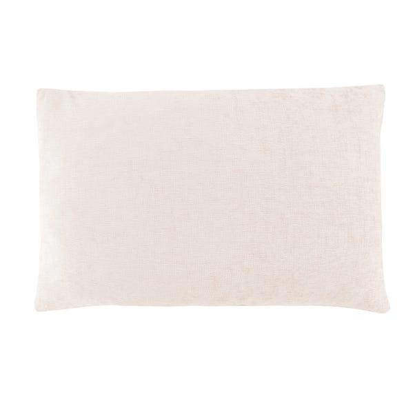 Chenille Rectangular Cushion Cream undefined