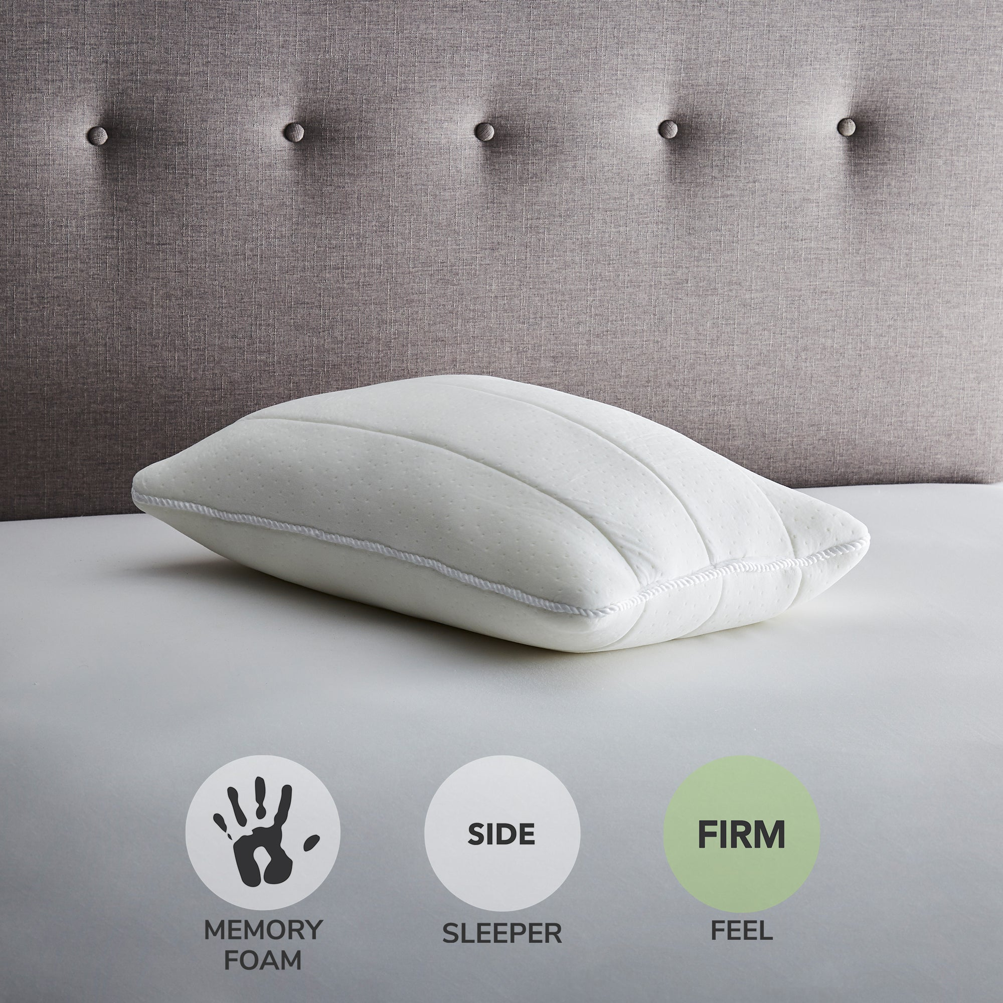 Fogarty Fogarty Luxury Memory Foam Extra Deep and Firm-Support Pillow White |